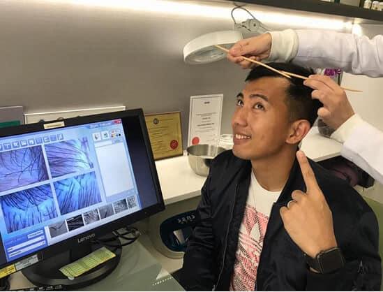 史雲遜 頭髮檢查